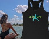 Yoga Racerback Tank, Yoga Life Tank Top, Yoga Lifestyle Tank, Yoga Lover Tank, Yoga Gift Idea, Yoga Style, Yoga Wear, Yoga Pose, Yoga Outfit
