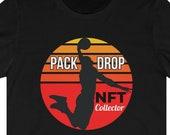 NFT Collector T-Shirt, NFT T-Shirt, Pack Drop T-Shirt, Non Fungible Token Shirt, NFT Gift Idea, Crypto Gift Shirt Idea, Blockchain, Ethereum