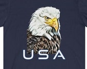 USA Eagle T-Shirt, American Eagle Shirt, Patriotic Eagle Shirt, July 4th T-Shirt, USA Gift Idea, USA Proud T-Shirt, Eagle Head T-Shirt
