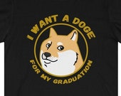 Doge Graduation T-Shirt, Dogecoin To The Moon, Class of 2021 Grad Gift, Funny Dogecoin T-Shirt, Cryptocurrency T-Shirt, Crypto Gift, HODL