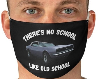 Classic Car Lover Face Mask, Muscle Car Graphic Mask, Vintage Car Mask, Retro Car Face Mask, Car Enthusiast Mask, Father's Day Face Mask
