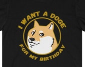 Doge Birthday T-Shirt, Dogecoin To The Moon, Dogecoin Birthday Gift Idea, Funny Dogecoin T-Shirt, Cryptocurrency T-Shirt, Crypto Gift, HODL