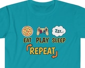 Pro Gamer T-Shirt, Eat Play Sleep Repeat, Funny Video Gamer Shirt, Funny Gamer Shirt, PC Gamer, Video Games Gamer Gift, Funny Pro Gamer Gift