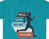 Men's Track Shirt, Boys Cross Country T-shirt, Desire Boys Track T-Shirt, Sports Shirts, Men's Track Tshirt, Sports Tshirt, Sports Tees