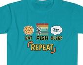 Eat Fish Sleep Repeat T-Shirt, Fishermen Shirt, Fishing Lover T-shirt, Fishing Gift, Fishermen Wear, Fishing T-Shirt, Fishermen Outfit