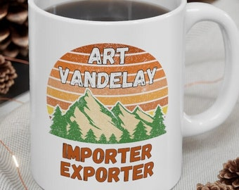 Art Vandelay Mug, Funny Seinfeld Coffee Mug, George Costanza Art Vandelay, Seinfeld TV Show, Funny Seinfeld Christmas Mug, 90s TV Show Mug
