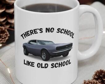 Classic Car Lover Coffee Mug, Muscle Car Graphic Mug, Vintage Car Coffee Mug, Retro Car Mug, Car Enthusiast Mug, Father's Day Gift Mug