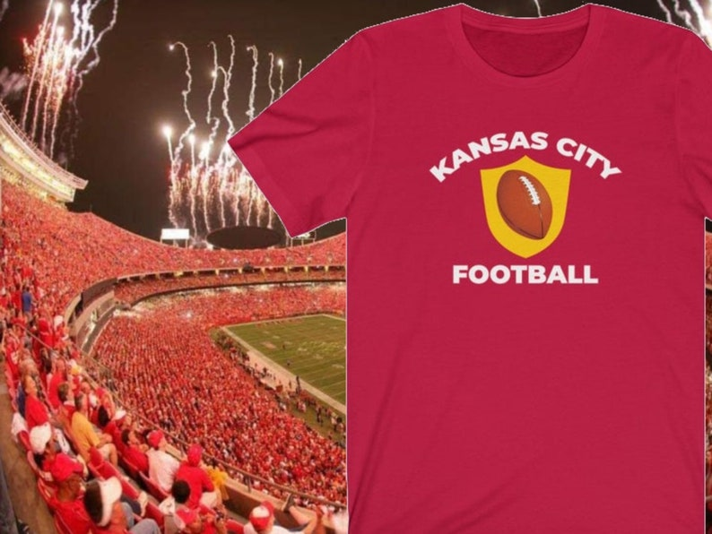 Kansas City Football T-Shirt Vintage KC Football Shirt image 0