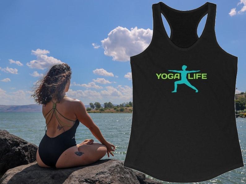 Yoga Racerback Tank Yoga Life Tank Top Yoga Lifestyle Tank image 0