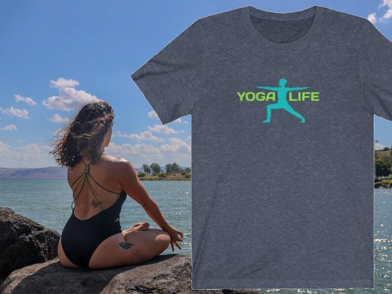 Yoga Unisex T-Shirt Yoga Life T-Shirt Yoga Lifestyle Tee image 0