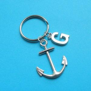 Personalised keyring Multiple initial keyring Gift for Mom Gift for grandparents Letter charm keychain