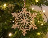 Winter wonderland Wooden snowflake, Christmas decoration, Scandinavian Christmas, christmas, christmas decor, rustic decor, Laser Cut