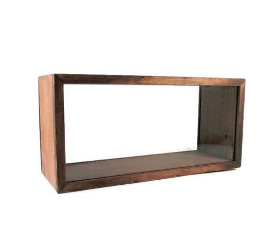 Debout Shadow Box - affichage rustique étui étui étui - boîte souvenir - Home Decor dd2ea0
