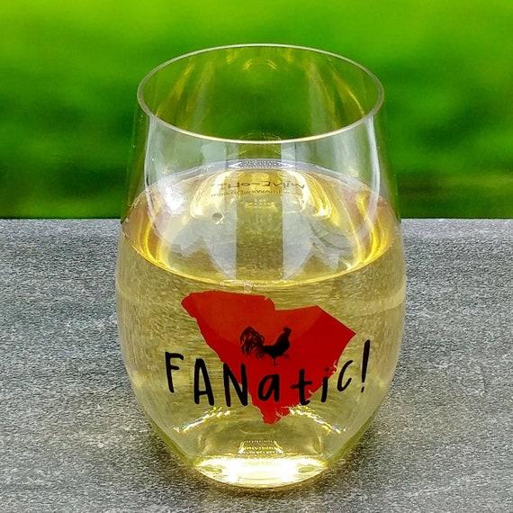 4-pack Wine-Oh Stemless Wine Glasses REBEL FANATIC! Designer Shatterproof Plastic 16 oz