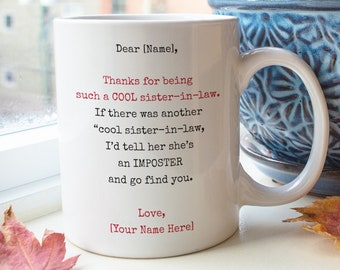 Customized Sister In Law Mug Gifts Cool Birthday Gift For Funny
