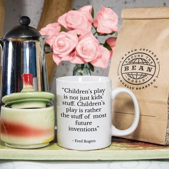 Mr Rogers Quote Mug For Teacher Best Friend Children S Etsy