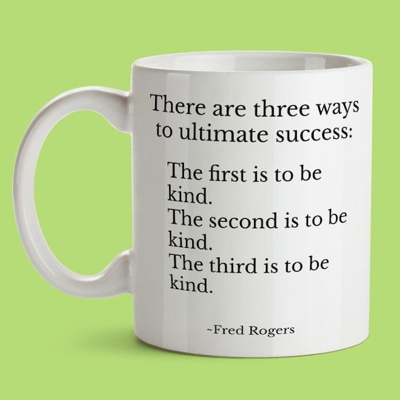 Mr Rogers Quote Mug For Teacher Best Friend From Mom Dad There Etsy