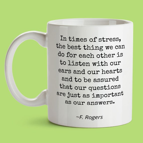 Mr Fred Rogers Quote Mug Birthday Gift For Son Daughter Best Etsy