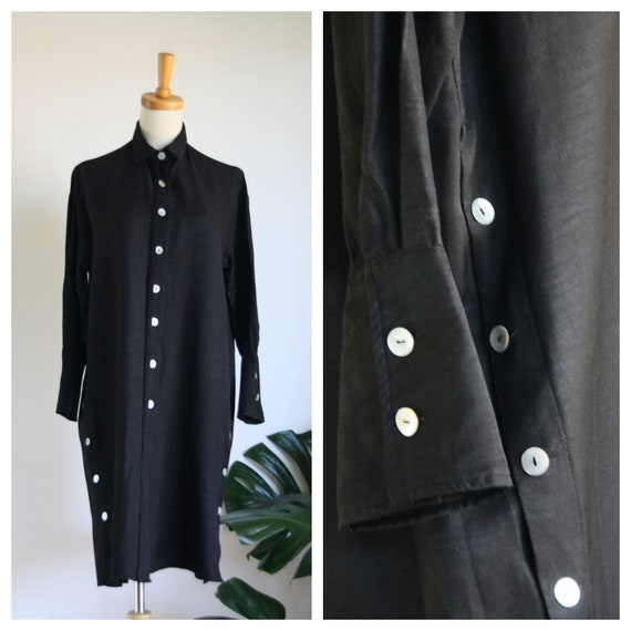 Vintage black minimalist dress. 90s black dress. 9