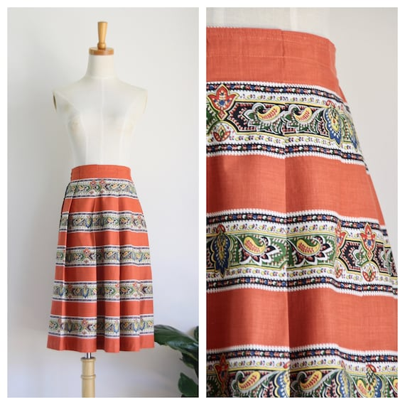 Vintage pleated 40s skirt. 90s does 40s skirt. Pum