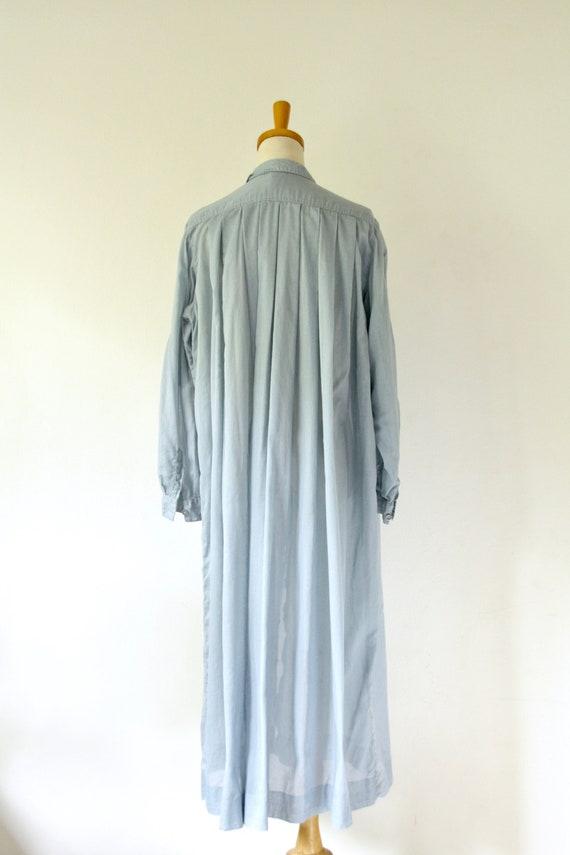Vintage PRUE ACTON blue dress. Blue Cotton duster… - image 5