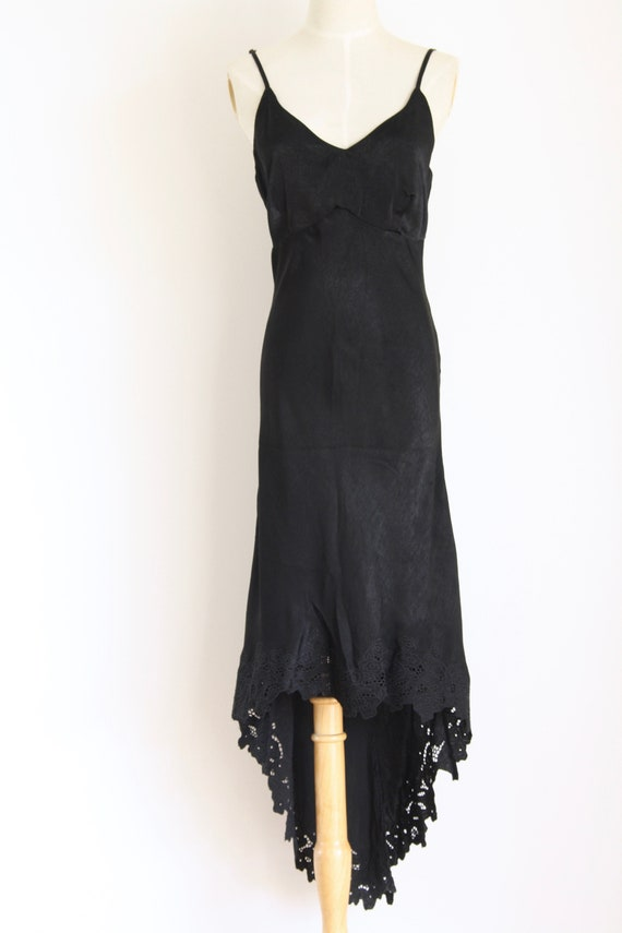 90s black summer slip dress. Black 90s grunge dres