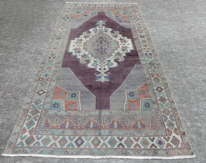 5x10 feet,foot, Anatolian Rug, Vintage Rug, Old Rug, Handmade Rug, Natural Rug, Wool Rug, Floor Rug,Turkish Rug, Gray Rug, Gallery Size Rug