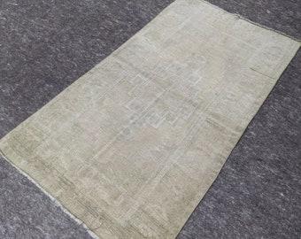 3'2'' x 5'8'' Anatolian Rug, Vintage Rug, Old Rug, Handmade Rug, Natural Rug, Wool Rug, Floor Rug,Turkish Rug, Wash Rug, Beige, Area Rug