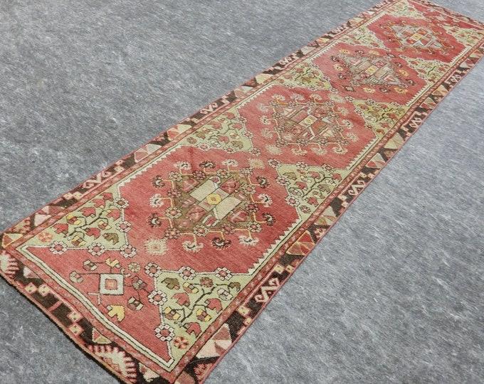 2'3'' x 9'7'' Anatolian Rug, Vintage Rug, Old Rug, Handmade Rug, Natural Rug, Wool Rug, Floor Rug,Turkish Rug, Red, Beige, Runner Rug