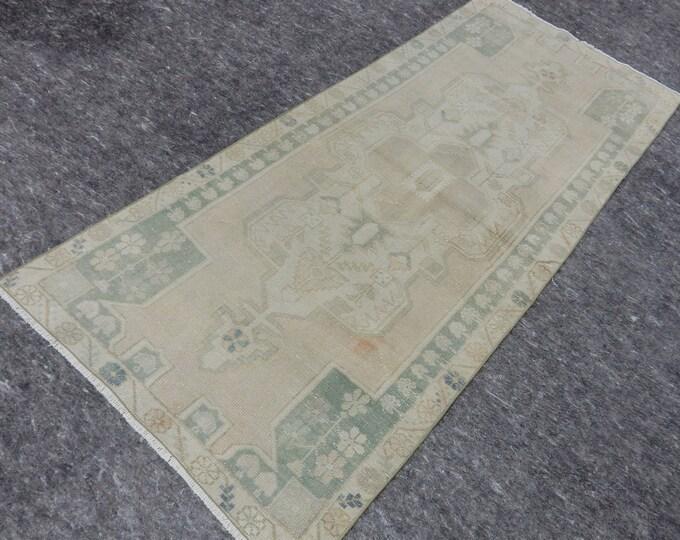 3x7, Muted Anatolia Rug, Turkish Beige rug, Vintage handmade rug, Area Rug