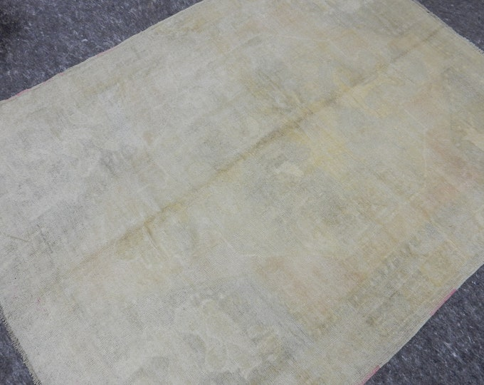 5'3'' x 7'0'' Anatolian Rug, Vintage Rug, Old Rug, Handmade Rug, Natural Rug, Wool Rug, Floor Rug,Turkish Rug, Muted Rug, Beige, Wash Rug