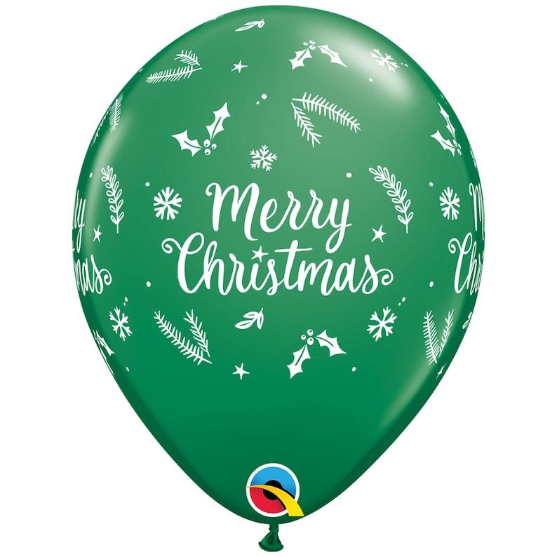 Xmas Christmas Decorations 32 Santa and Six 11 Merry Christmas Balloon Bouquet Santa Balloons Office Christmas Party Christmas Party