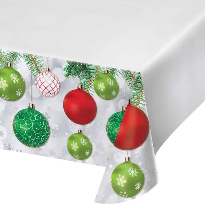 Holiday Party Christmas Party Holiday Season Christmas Table Cover Christmas Ornaments Plastic Tablecloth Christmas Decoration
