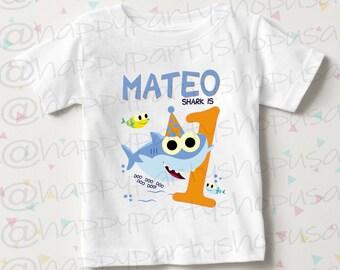 572bdeec Baby shark doo doo doo shirt, First birthday baby shark tshirt, birthday shirt  sharks, Birthday baby shark shirt