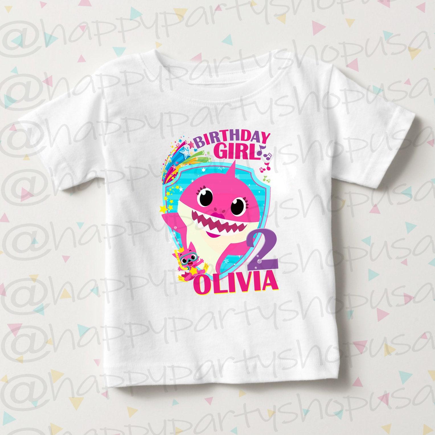 Unisex Baby Cute Tee God Dad Shark Family Matching T-Shirt 6M-24M