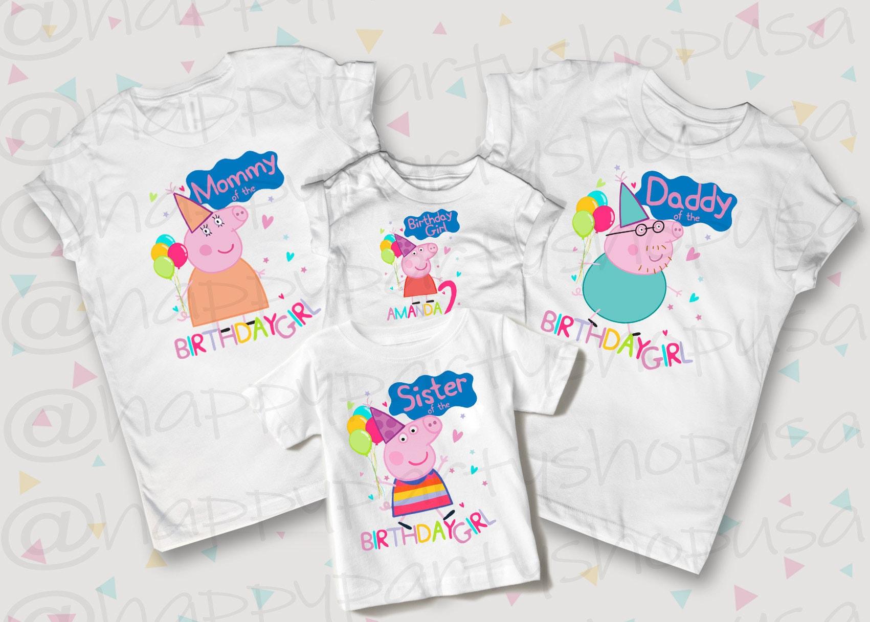 45b8c4e56 88+ Peppa Pig Birthday T Shirt - Peppa Pig Boy George Personalized ...