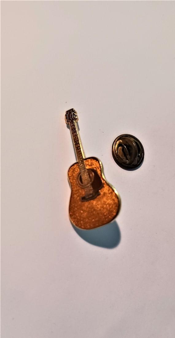 Vintage Copper Guitar Novelty Lapel/Hat Pin Souven