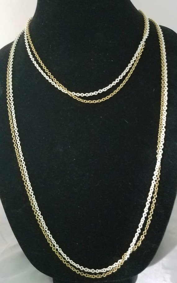 Gold and White Double Chain Vintage
