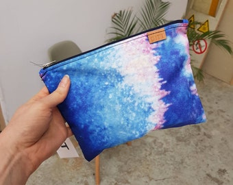 pencil case gadget bag Accessory bag M zipper pouch make up bag recycled from former concert promotion etui