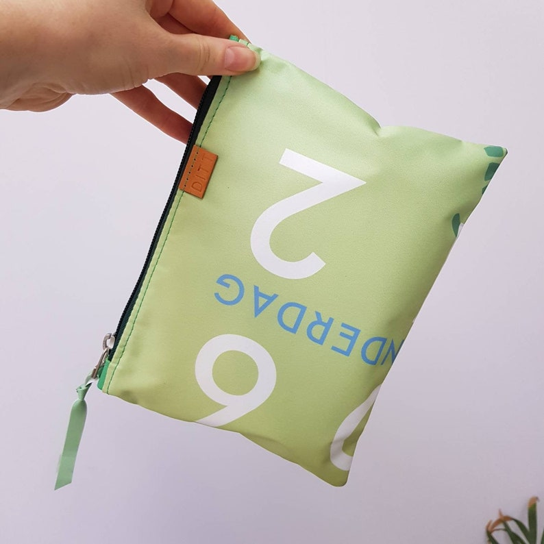 recycled from former concert promotion Accessory bag M etui zipper pouch make up bag pencil case gadget bag