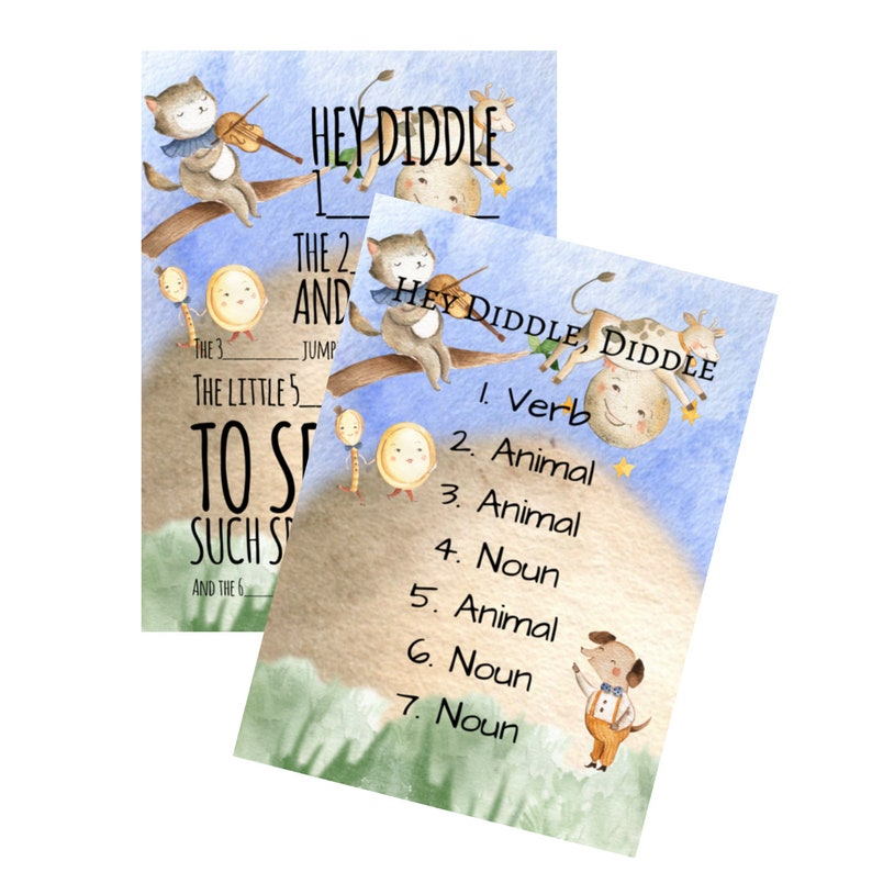 Nursery Rhymes Mad Libs Hey Diddle Diddle image 1