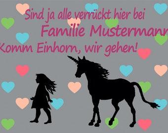 60x40cm Einhörner #92084 I Was Born To Be Your Unicorn Fußmatte Türmatte