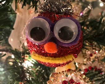 big eyed ugly ornament