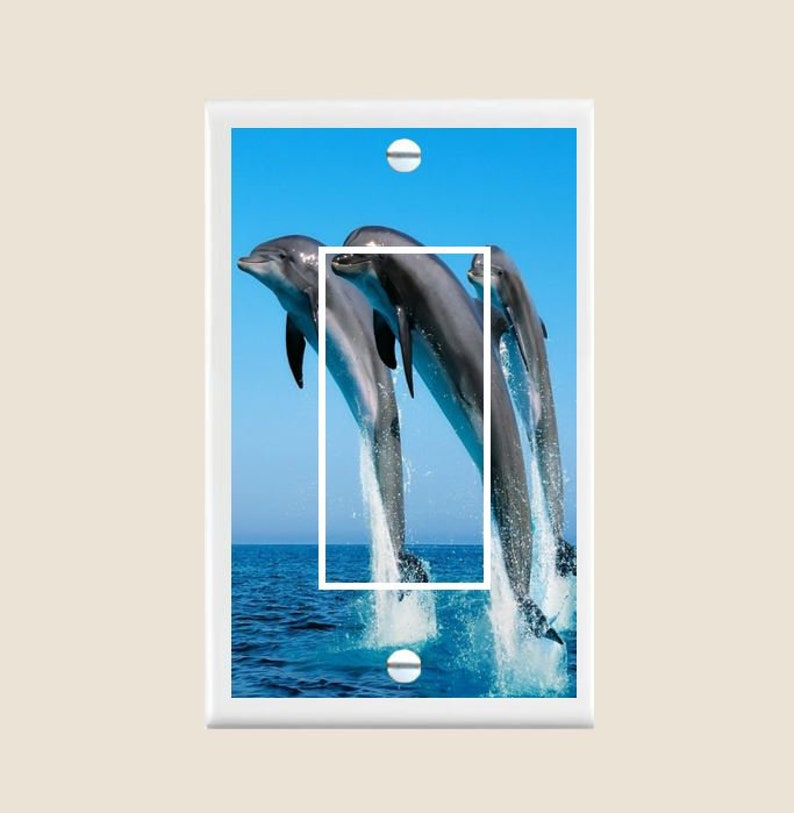 Dolphin Beach Decor Light Switch Plate Cover - Single Toggle - Switch  Plates - Bedroom Bathroom Décor - Home & Living - Seaside Ocean