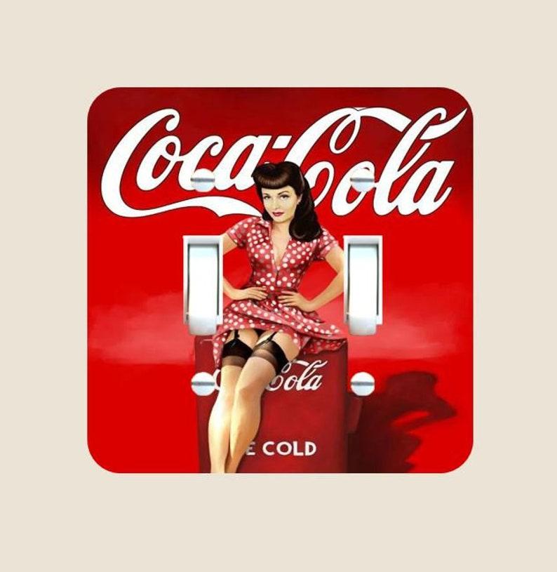 Coca Cola Bathroom Decor.Coca Cola Light Switch Plate Cover Single Toggle Switch Etsy