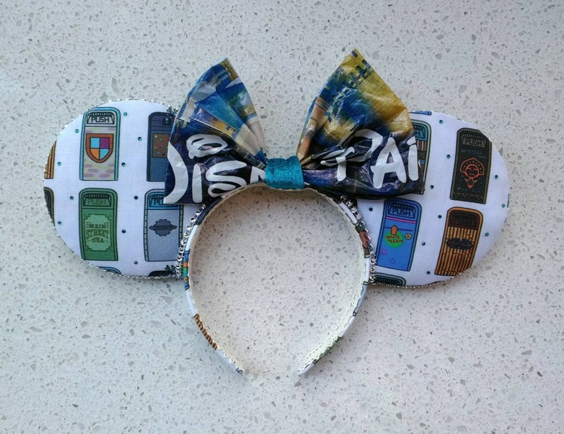 Minnie Ears fits Kids to Adults Ready to Ship Teal Trash Cans