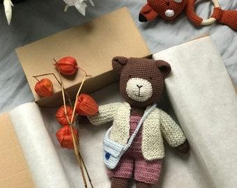 Teddy Greta crochet cuddly toy amigurumi