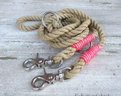 "Rope leash ""Girl stuff"" braided"