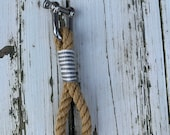 Keychain made of ropework