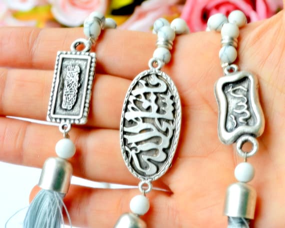 Mini arabe Coran Coran Islam Musulman Allah Papier Porte-clés chaîne porte-clés